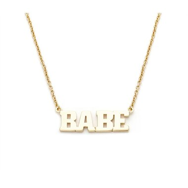 Babe Pendant Necklace- Gold