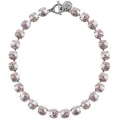 White Patina Rivoli Necklace- Antique Silver