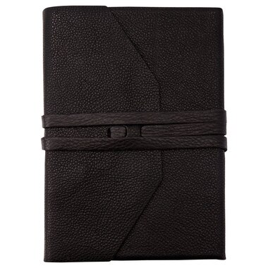 Laccio Leather Wrap Journal - Black