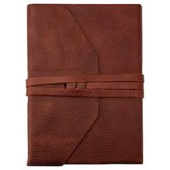 Laccio Leather Wrap Journal - Vintage Brown