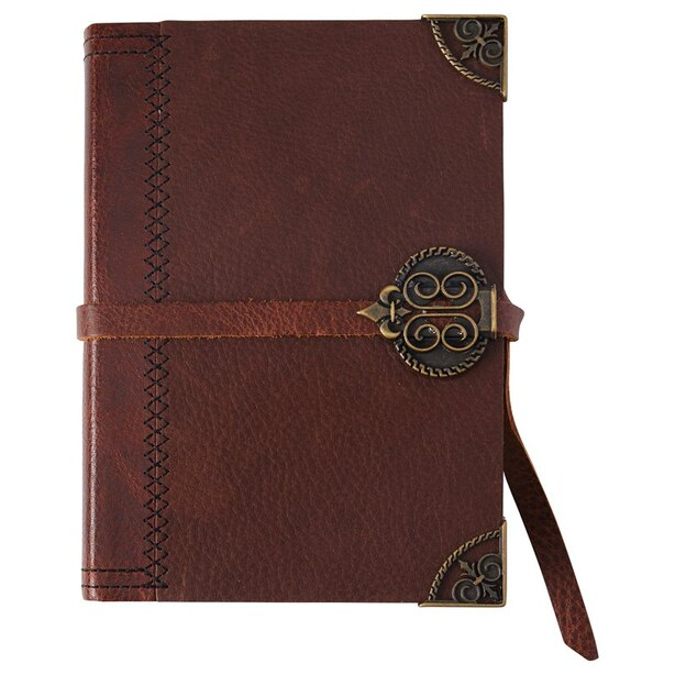 Small Leather Journal Dark Brown