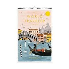2019 17-MONTH WALL CALENDAR WORLD TRAVELER