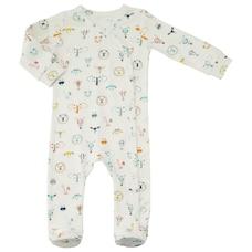 INDIGOBABY BASICS BABY SLEEPER ANIMALS 6-12 MONTHS