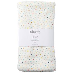 INDIGOBABY BASICS RECEIVING BLANKET COLOURED DOTS