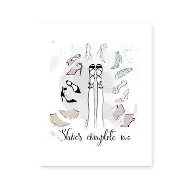 "Shoes Complete Me Art Print – 8"" x 10"""