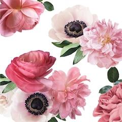 Autocollants muraux — Méli-mélo de fleurs roses