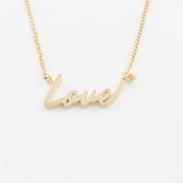 Capsul Sterling Silver Signature Necklace - Love
