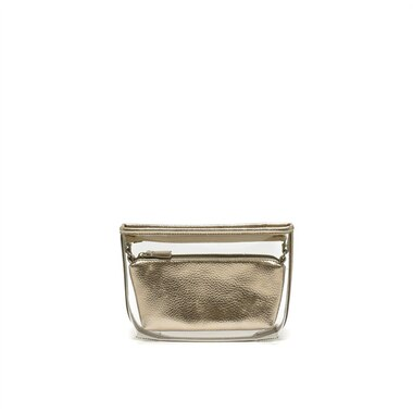 Departure Make Up Pouch — Clear Rose Gold