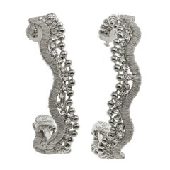 MARLOWE EARRINGS - ANTIQUE SILVER