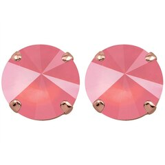 LIGHT CORAL STUD EARRINGS -ROSE GOLD