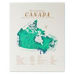 "The Canada Map Art Print - 8"" x 10"""