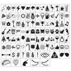Paquet de symboles pour le caisson lumineux Mini Lightbox