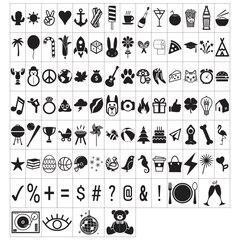 Ensemble de lettres et de chiffres pour caisson lumineux