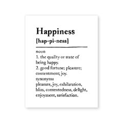 "Happiness Definition Art Print – 8"" x 10"""