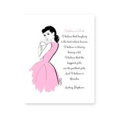 Imprimé artistique Believe in Pink - 8 x 10 po
