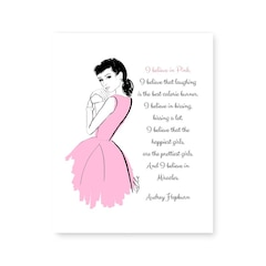 "Believe in Pink Art Print – 8"" x 10"""
