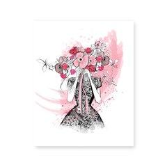 Imprimé artistique Flirting In Floral - 8 x 10 po