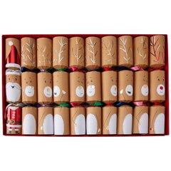 CHRISTMAS CRACKERS SANTA AND REINDEER SET OF 10