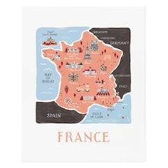 "France Art Print – 8"" x 10"""