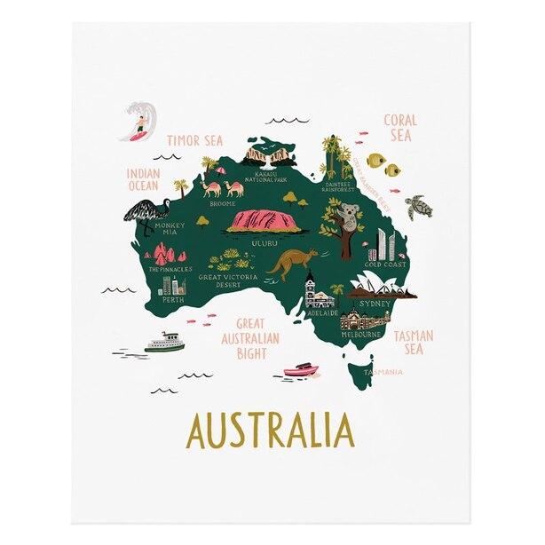 """Australia Art Print – 8"""" x 10"""""""