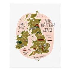 Affiche Îles Britaniques - 8po x 10po.