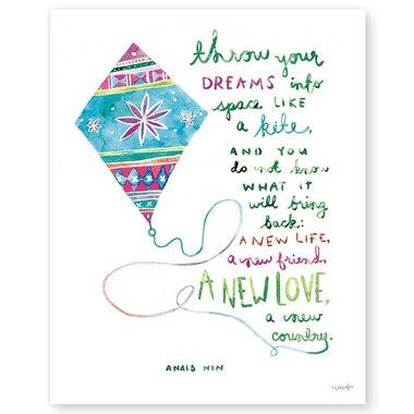 "Throw Your Dreams Like A Kite Art Print – 8"" x 10"""