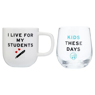 I LIVE FOR MY STUDENTS COFFEE AND WINE SET