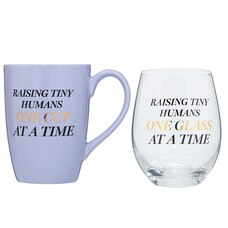 RAISING TINY HUMANS COFFEE AND WINE SET