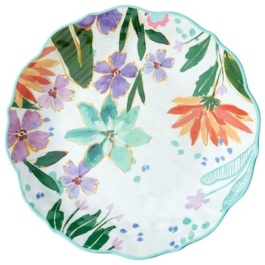 PLAYA FLORAL OUTDOOR DINNER PLATES - SET OF 4