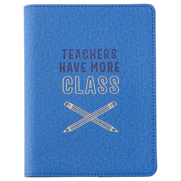 REFILLABLE JOURNAL SMALL FORMAT TEACHERS MORE CLASS BLUE