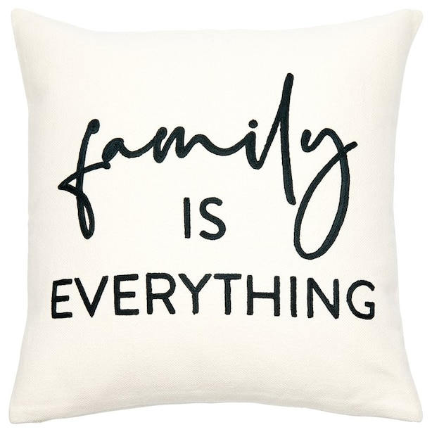 """EXPRESSIONS FAMILY IS EVERYTHING PILLOW COVER – 18"""" X 18"""""""