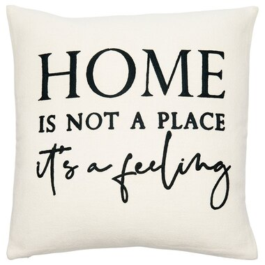 """EXPRESSIONS HOME FEELING PILLOW COVER – 18"""" X 18"""""""