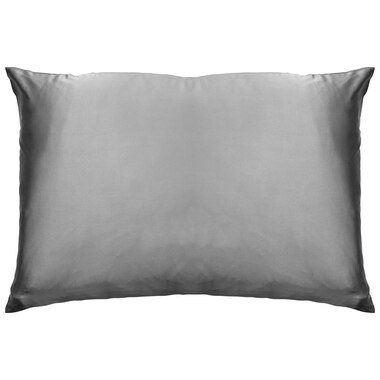 "BEAUTY SLEEP SILK PILLOW CASE – CHARCOAL GREY, 20"" X 30"""