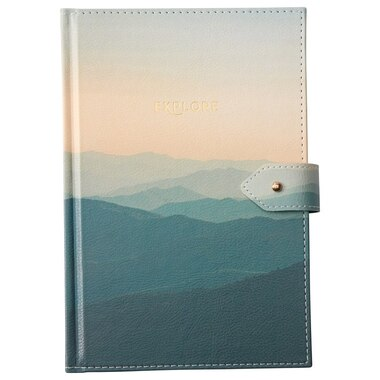 LARGE BUTTON JOURNAL MISTY MOUNTAIN