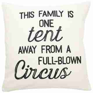 """EXPRESSIONS FAMILY CIRCUS PILLOW COVER – 18"""" x 18"""""""