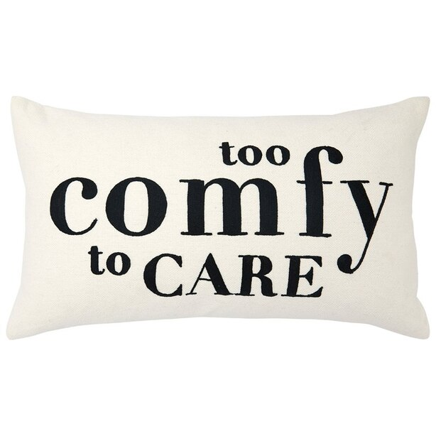 """EXPRESSIONS TOO COMFY PILLOW COVER – 12"""" X 21"""""""