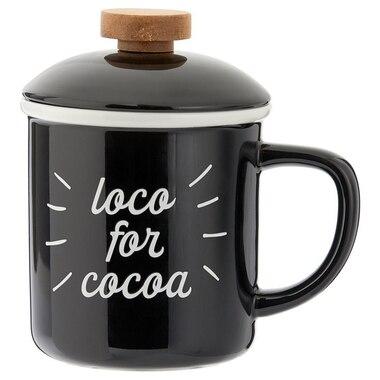 LOCO FOR COCOA WOOD TOP CAMP MUG
