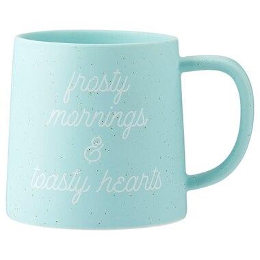 FROSTY MORNINGS SPECKLED BREAKFAST MUG