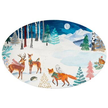WOODLAND ANIMALS OVAL TRAY