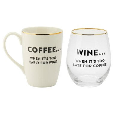 A GOOD DAY COFFEE-AND-WINE SET