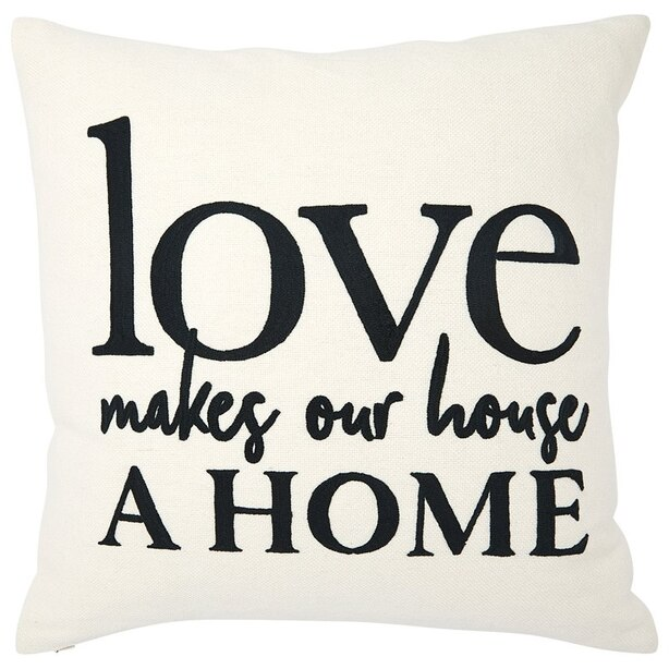 "EXPRESSIONS LOVE HOME PILLOW COVER – 18"" X 18"""