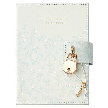 LOCKED DIARY AMAZING THINGS LEAVES MINT