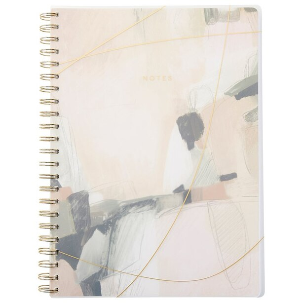 A4 POLYPRO SPIRAL NOTEBOOK GILDED ABSTRACT