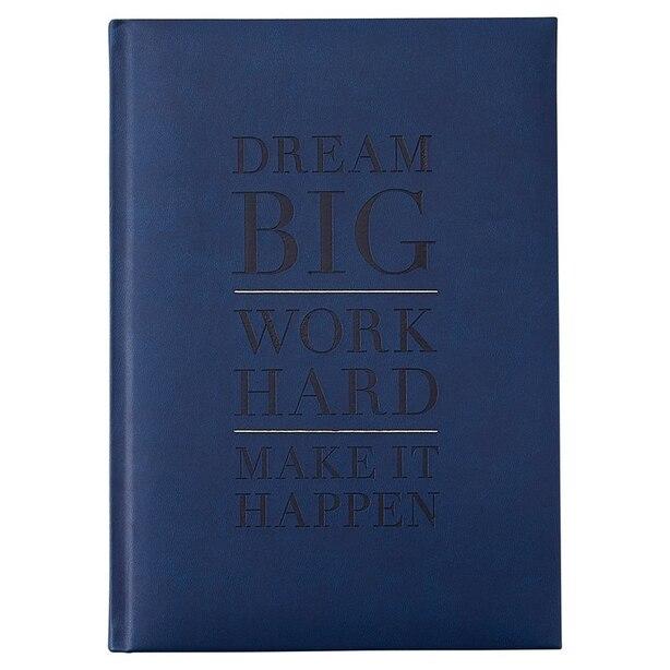 EMBOSSED JOURNAL DREAM BIG NAVY