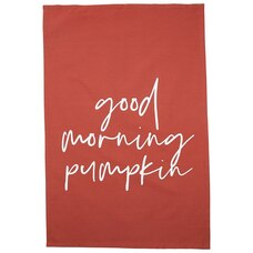 GOOD MORNING PUMPKIN TEA TOWEL
