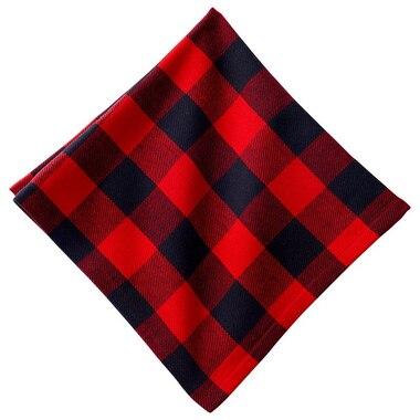 BUFFALO CHECK RED & BLACK NAPKIN – SET OF 4