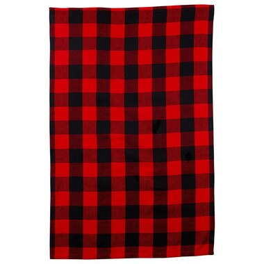 BUFFALO CHECK RED TEA TOWEL
