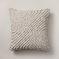 "OUI WOVEN CHENILLE PILLOW COVER DOVE 18"" X 18"""