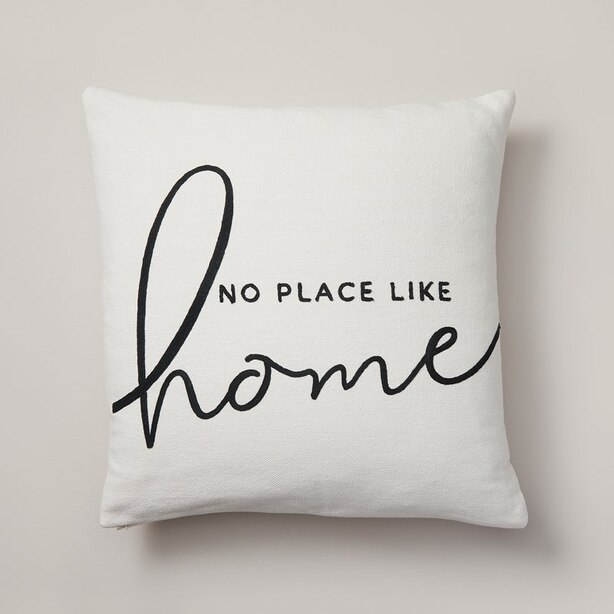 "EXPRESSIONS NO PLACE LIKE HOME PILLOW COVER – 18"" X 18"""