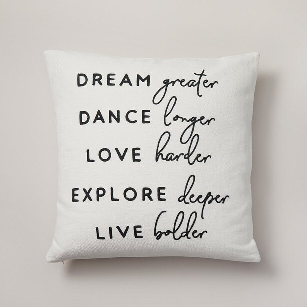 """EXPRESSIONS LIVE BOLDER PILLOW COVER – 18"""" X 18"""""""